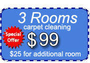 3 rooms of carpet cleaning for only $99 dollars with Certified Carpet Cleaning!