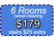 6 rooms of carpet cleaning for only $179 dollars with Certified Carpet Cleaning!
